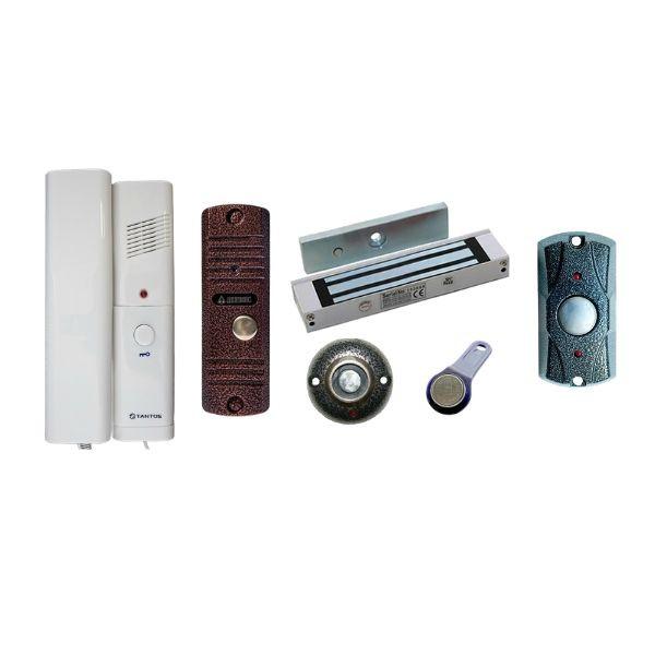 Комплект аудидомофона с электромагнитным замком